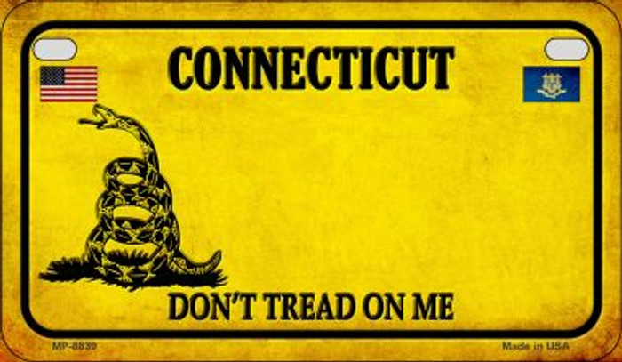 Connecticut Do Not Tread Novelty Metal Motorcycle Plate MP-8839