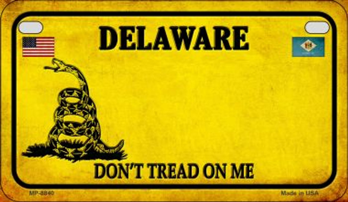 Delaware Do Not Tread Novelty Metal Motorcycle Plate MP-8840