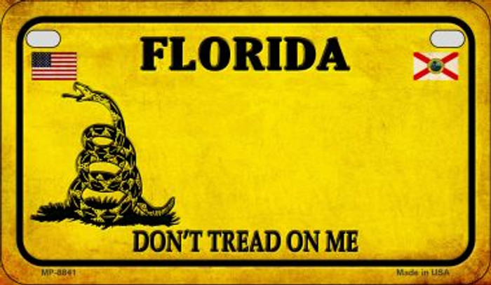 Florida Do Not Tread Novelty Metal Motorcycle Plate MP-8841