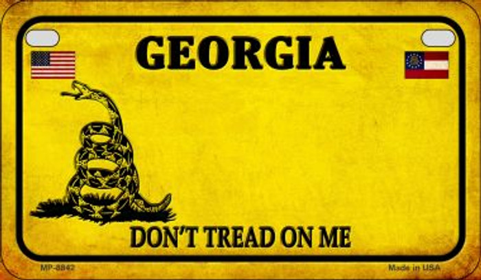 Georgia Do Not Tread Novelty Metal Motorcycle Plate MP-8842