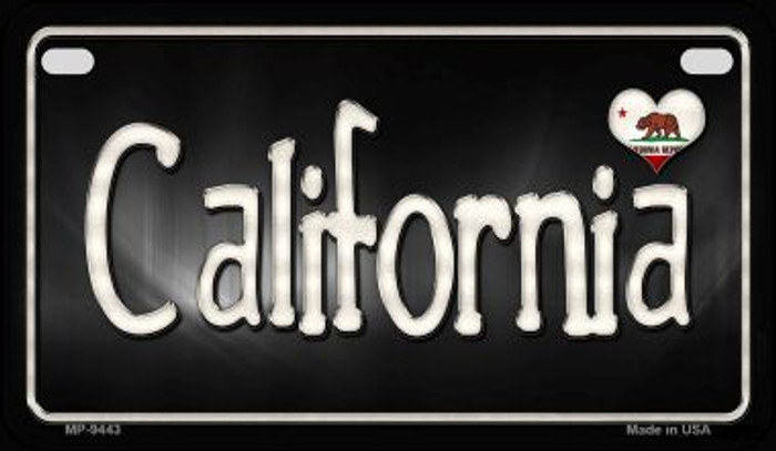 California Flag Script Novelty Metal Motorcycle Plate MP-9443