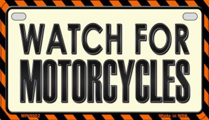 Watch For Motorcycle Novelty Metal Motorcycle Plate MP-9902