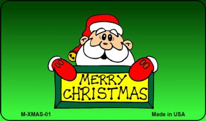 Merry Christmas Santa Novelty Metal Magnet XMAS-01