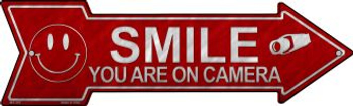 Smile You're On Camera Novelty Mini Metal Arrow MA-365