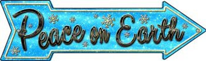 Peace On Earth Novelty Mini Metal Arrow MA-373