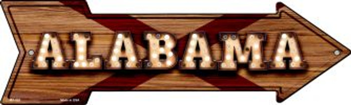 Alabama Bulb Lettering Novelty Mini Metal Arrow MA-581