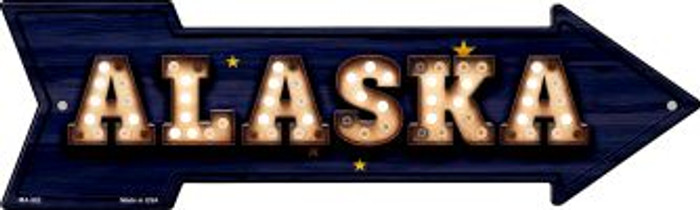 Alaska Bulb Lettering Novelty Mini Metal Arrow MA-582