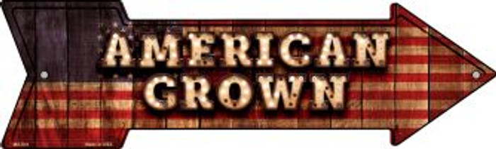American Grown Bulb Letters Novelty Mini Metal Arrow MA-641