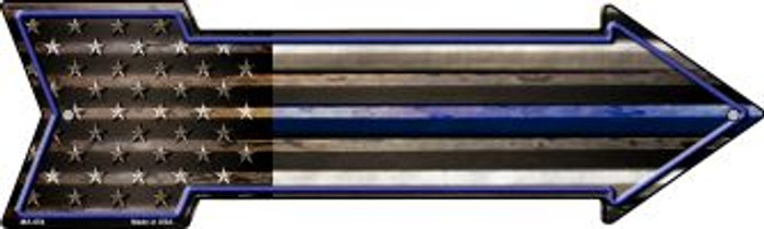 American Flag Thin Blue Line Novelty Mini Metal Arrow MA-654