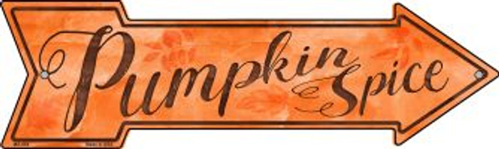 Pumpkin Spice Novelty Mini Metal Arrow MA-664