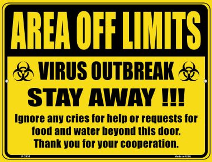 Area Off Limits Novelty Metal Parking Sign P-2834