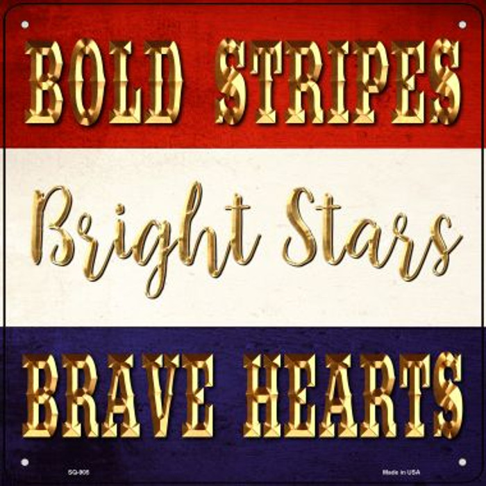 Bright Stars Novelty Metal Square Sign SQ-905