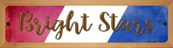 Bright Stars Novelty Wood Mounted Small Metal Street Sign WB-K-1412