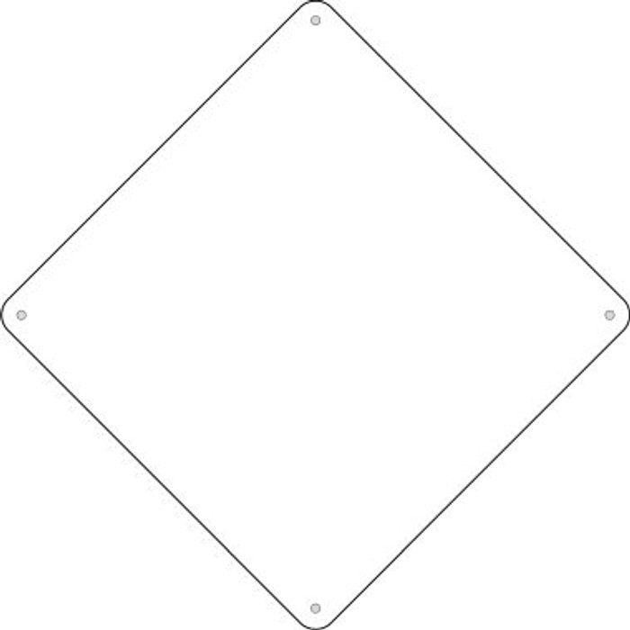 "White Dye Sublimation 8""Novelty Mini Metal Crossing Sign MCX-000"