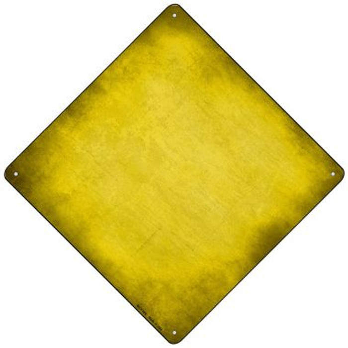 Yellow Oil Rubbed Novelty Mini Metal Crossing Sign MCX-006