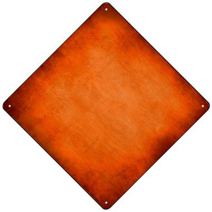 Orange Oil Rubbed Novelty Mini Metal Crossing Sign MCX-007