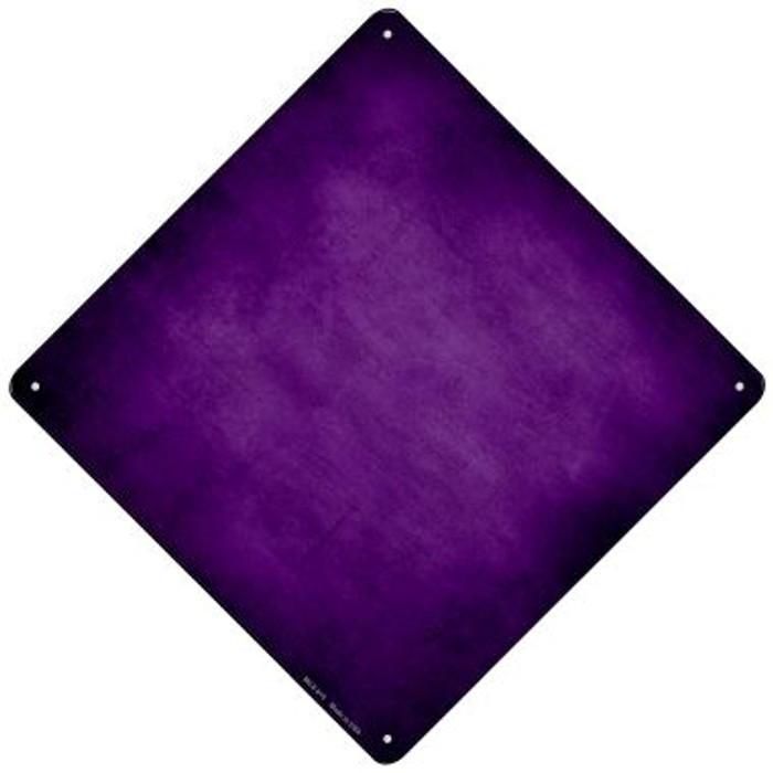 Purple Oil Rubbed Novelty Mini Metal Crossing Sign MCX-010