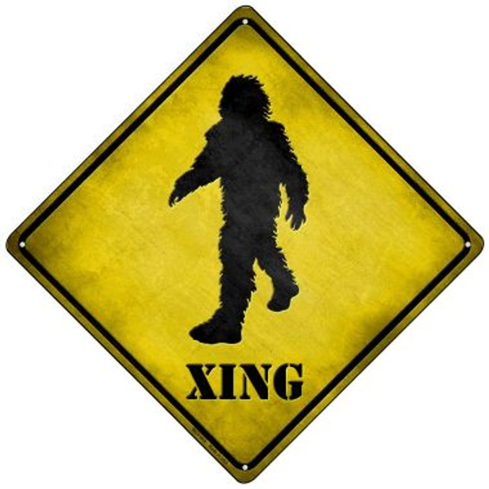 Bigfoot Xing Novelty Mini Metal Crossing Sign MCX-018