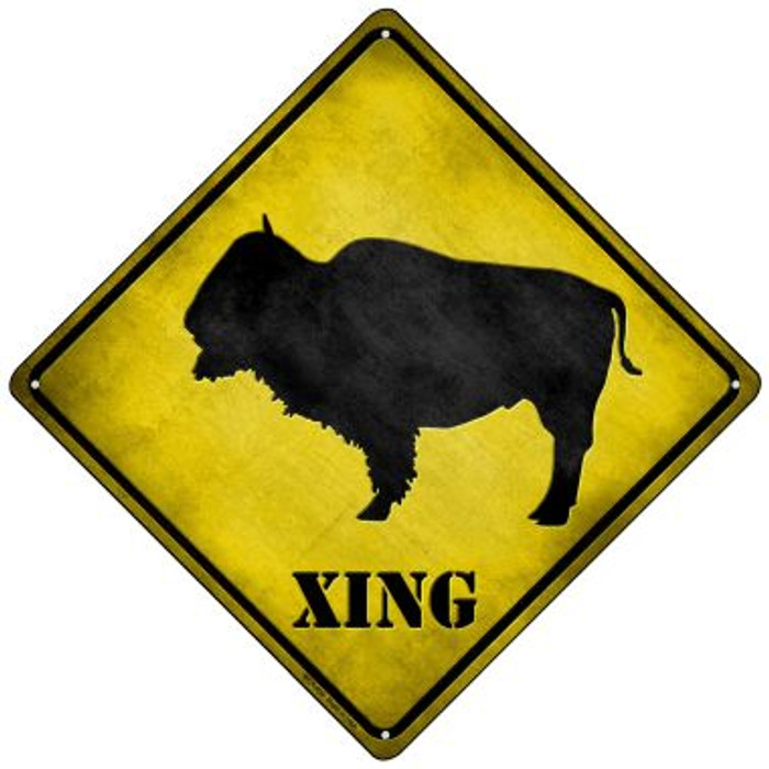 Buffalo Xing Novelty Mini Metal Crossing Sign MCX-054