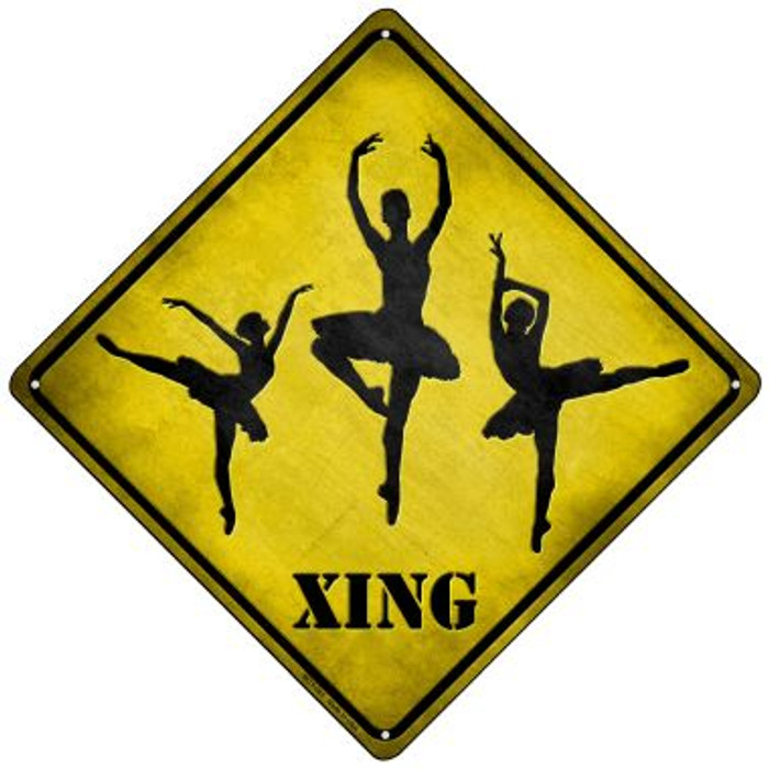 Ballerina Xing Novelty Mini Metal Crossing Sign MCX-081