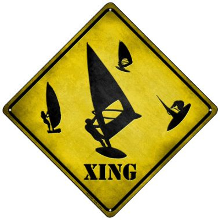 Board Sailor Xing Novelty Mini Metal Crossing Sign MCX-091