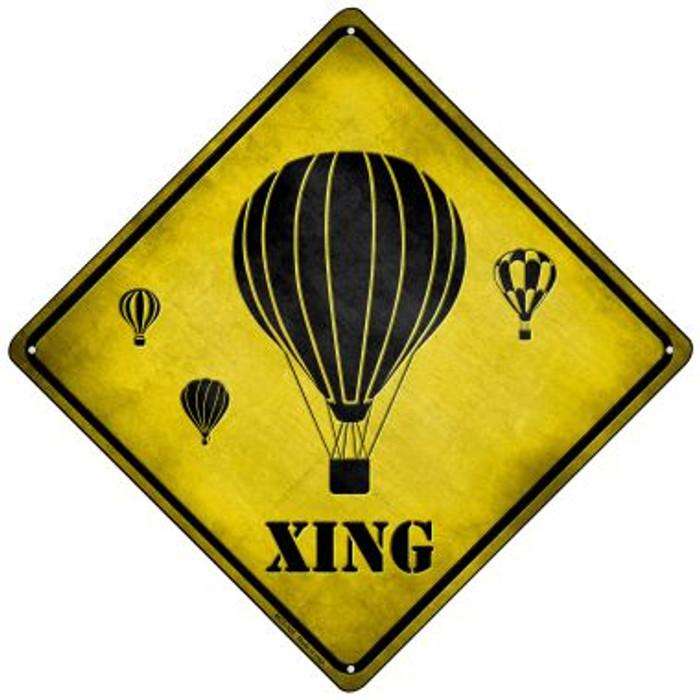 Air Balloon Xing Novelty Mini Metal Crossing Sign MCX-125
