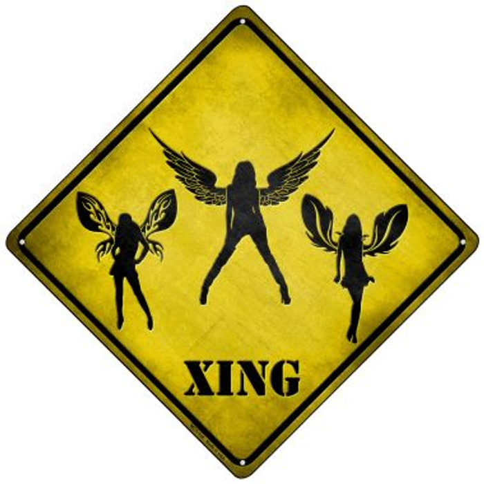 Angels Xing Novelty Mini Metal Crossing Sign MCX-138