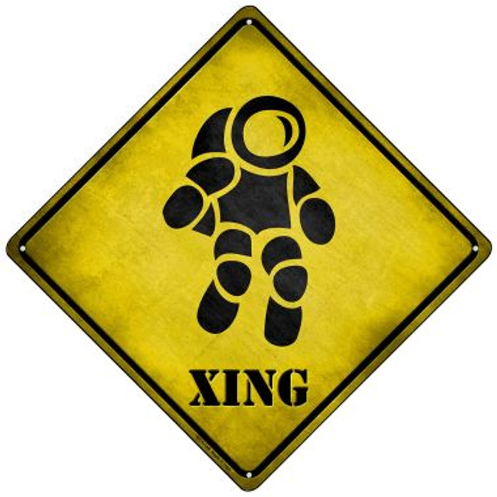 Astronaut Xing Novelty Mini Metal Crossing Sign MCX-146