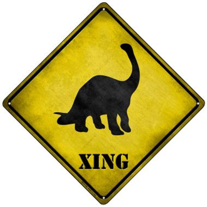 Brontosaurus Xing Novelty Mini Metal Crossing Sign MCX-185