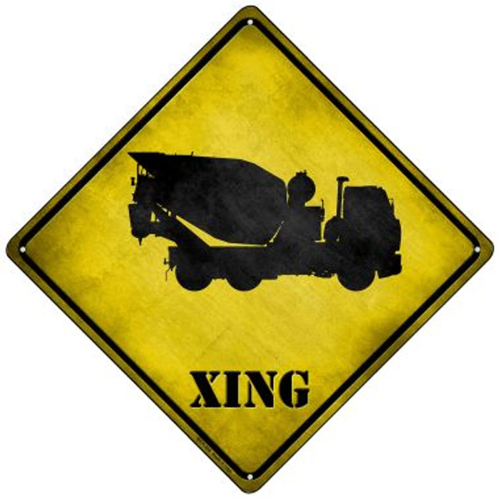 Cement Mixer Xing Novelty Mini Metal Crossing Sign MCX-206