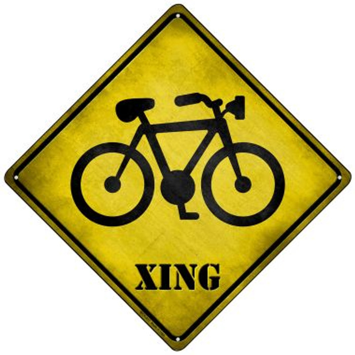 Bicycle Xing Novelty Mini Metal Crossing Sign MCX-217
