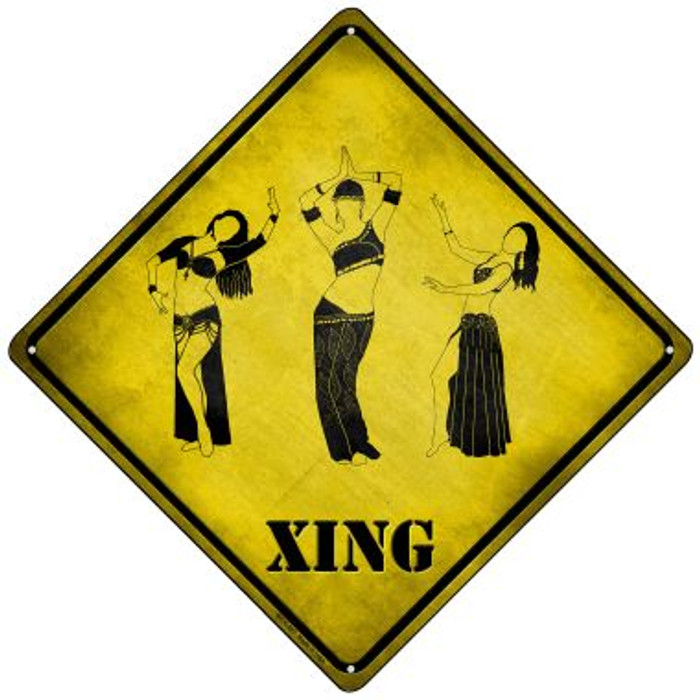 Belly Dancers Xing Novelty Mini Metal Crossing Sign MCX-227