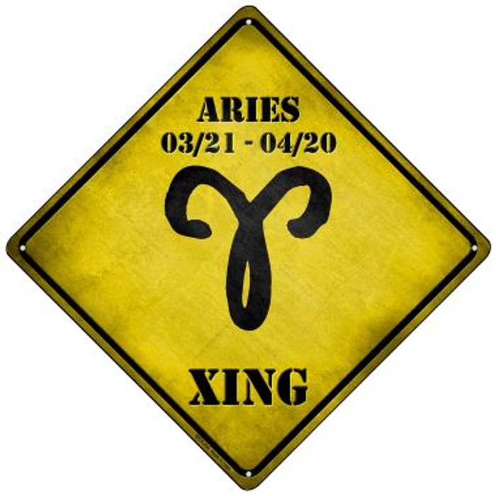 Aries Xing Novelty Mini Metal Crossing Sign MCX-234