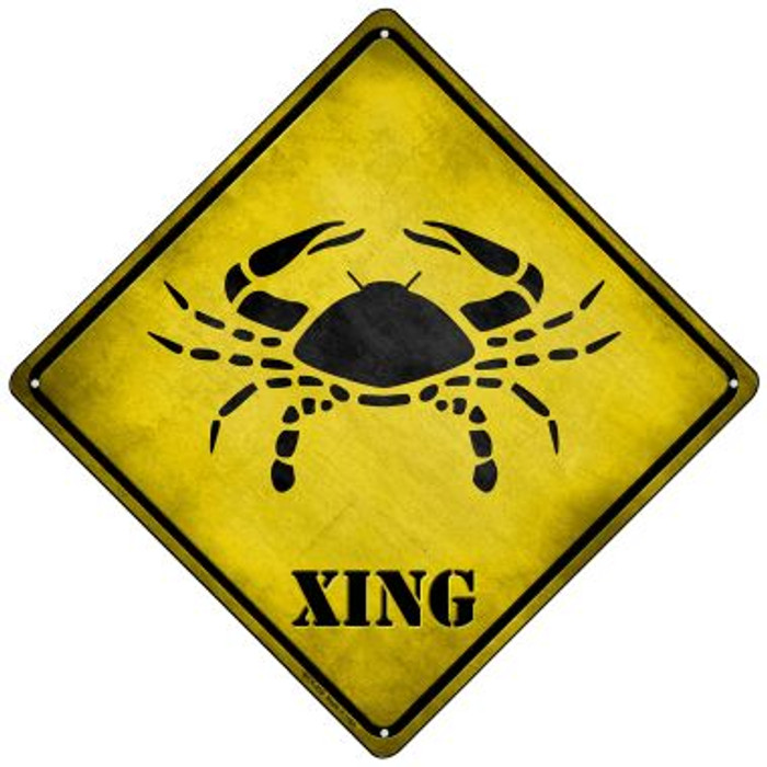 Cancer Xing Novelty Mini Metal Crossing Sign MCX-239