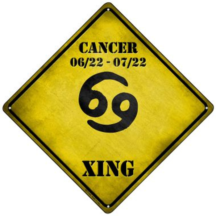 Cancer Xing Novelty Mini Metal Crossing Sign MCX-240