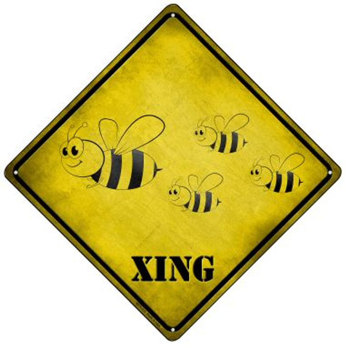 Cartoon Bee Xing Novelty Mini Metal Crossing Sign MCX-312