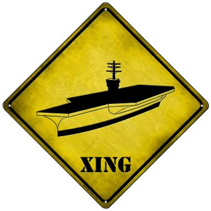 Aircraft Carrier Xing Novelty Mini Metal Crossing Sign MCX-362