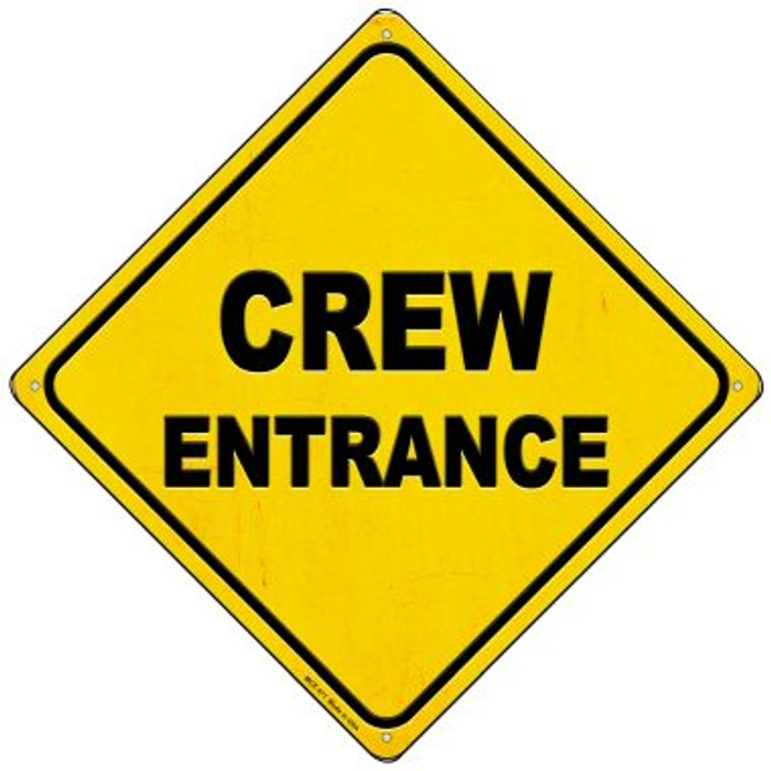 Crew Entrance Novelty Mini Metal Crossing Sign MCX-371