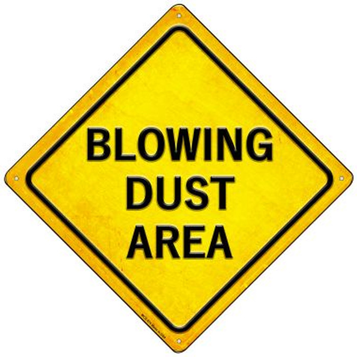 Blowing Dust Area Novelty Mini Metal Crossing Sign MCX-574