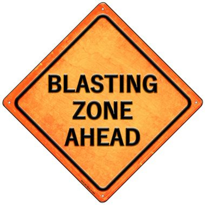 Blasting Zone Ahead Novelty Mini Metal Crossing Sign MCX-583