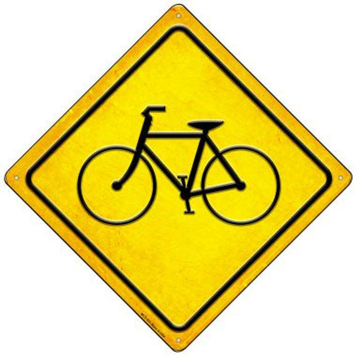 Bicycle Novelty Mini Metal Crossing Sign MCX-593