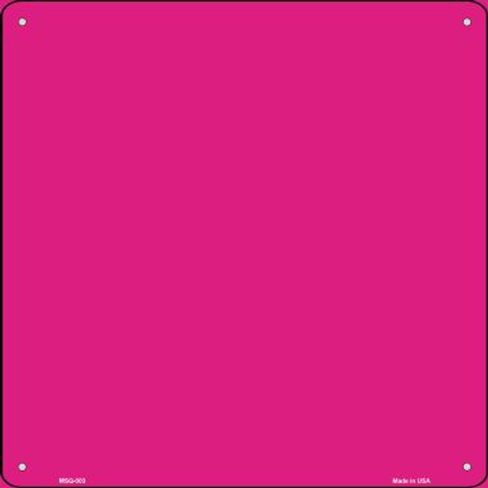 Pink Solid Novelty Mini Metal Square MSQ-003
