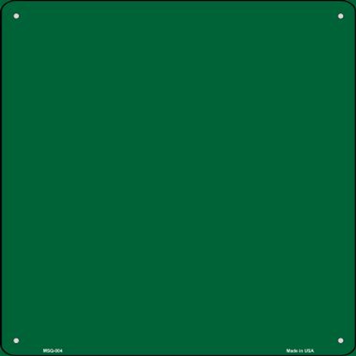 Green Solid Novelty Mini Metal Square MSQ-004