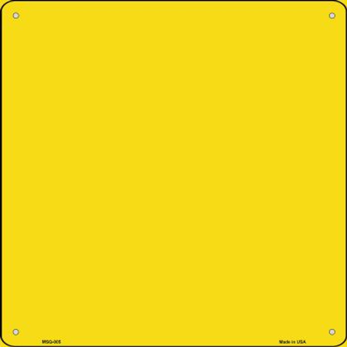 Yellow Solid Novelty Mini Metal Square MSQ-005