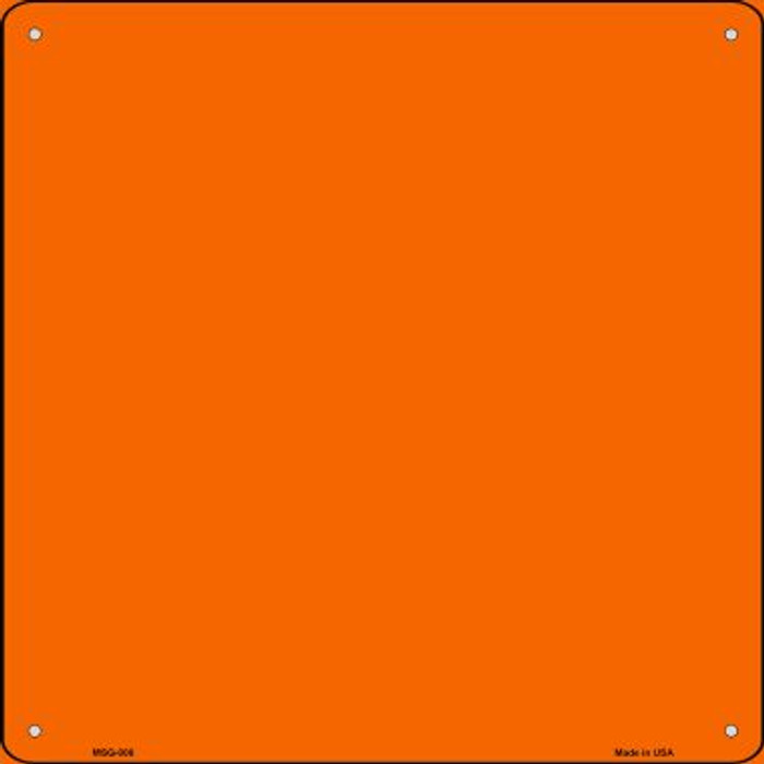 Orange Solid Novelty Mini Metal Square MSQ-006