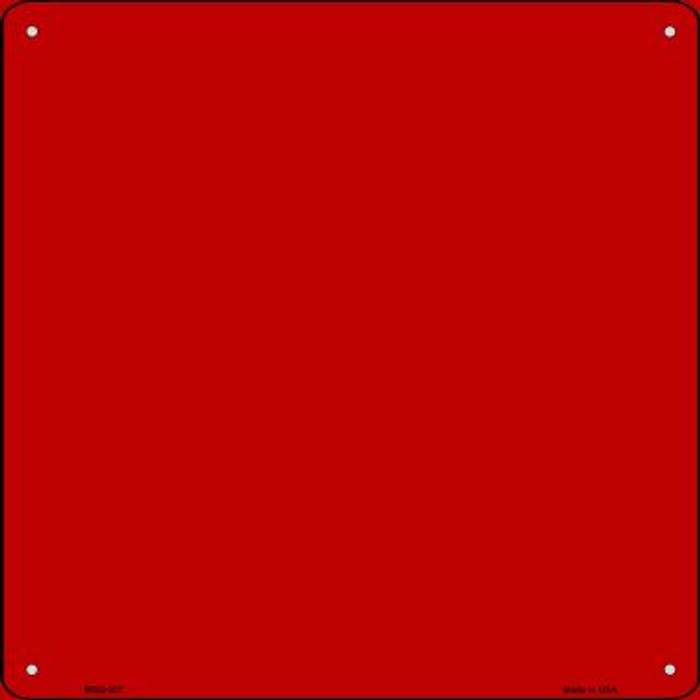 Red Solid Novelty Mini Metal Square MSQ-007