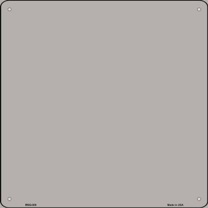 Gray Solid Novelty Mini Metal Square MSQ-008