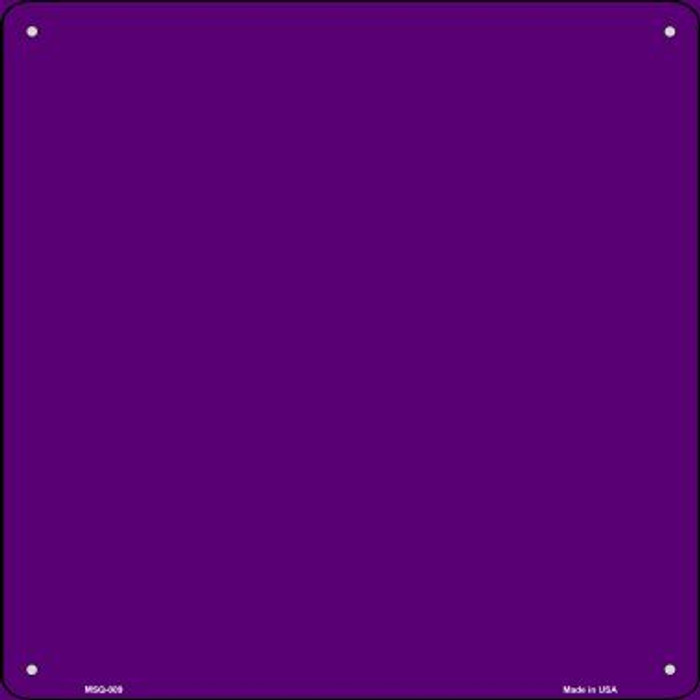 Purple Solid Novelty Mini Metal Square MSQ-009