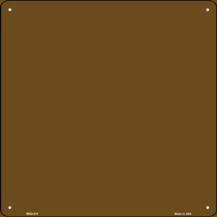 Brown Solid Novelty Mini Metal Square MSQ-010