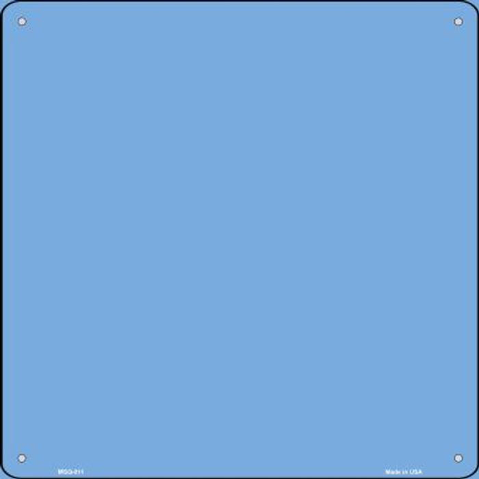 Light Blue Solid Novelty Mini Metal Square MSQ-011